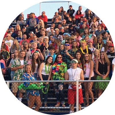 group shot of student section at a Lakewood football game