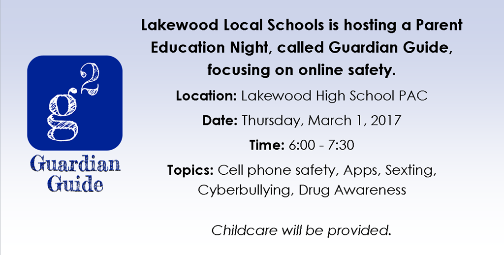 Parent Education Night March 1st from 6 - 7:30PM in the LHS Auditorium