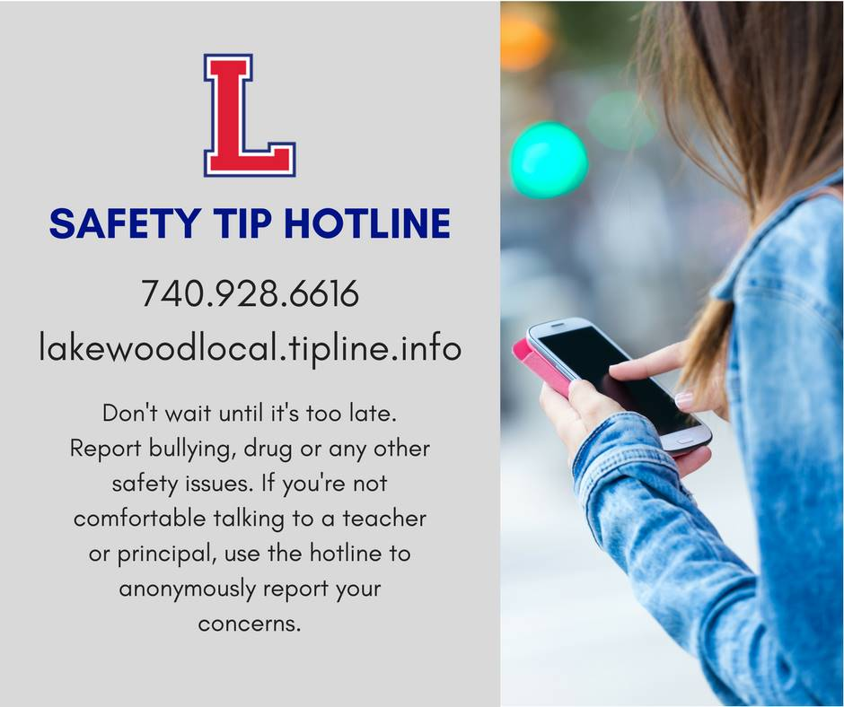 Safety tip hotline number 740.928.6616