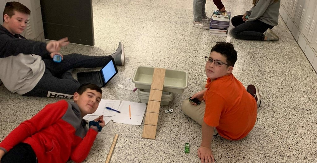 We love to see our students engaged in learning. Our 6th graders recently designed their own experiments that incorporated mass and length.