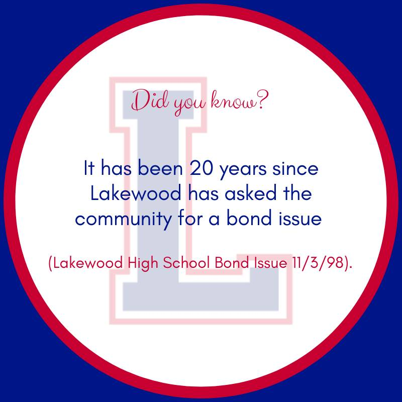 It has been 20 years since Lakewood has asked the community for a bond issue