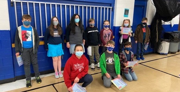 students from the 5th grade spelling bee