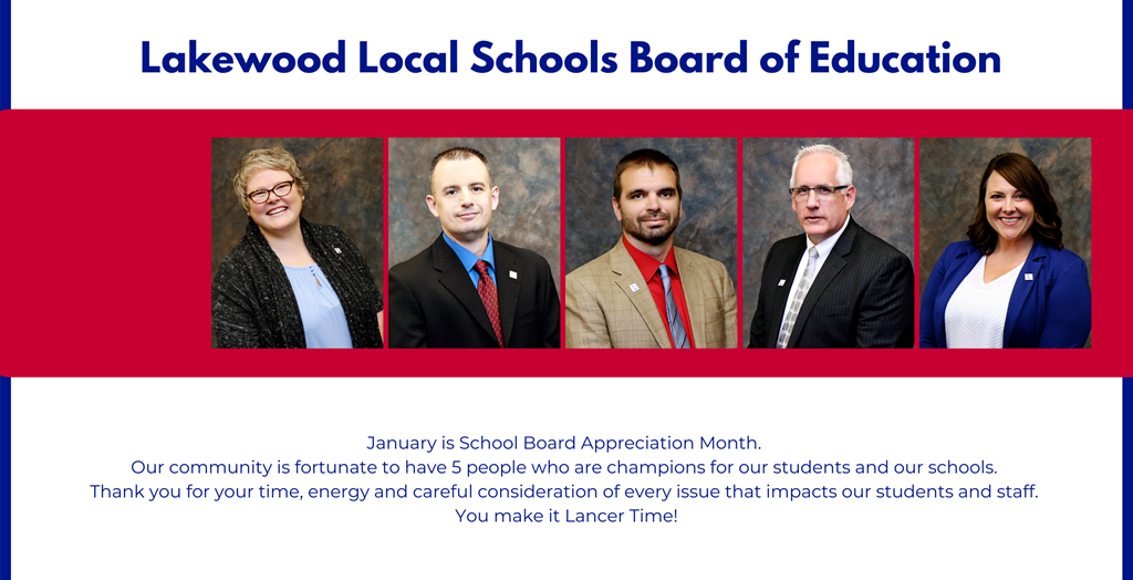 picture of school board members - thank you message for School Board Appreciation month.